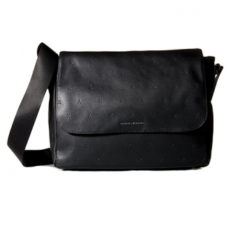 6f7dc4502ae0 Armani Exchange Mens Embossed Messenger Bag Nero